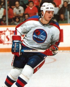 Winnipeg Jets' centre Dale Hawerchuk