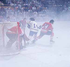 Fog enshrouds ice during '75 Stanley Cup Final