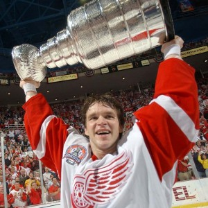 Luc Robitaille with 2002 Cup