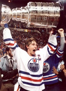 Wayne Gretzky and Stanley Cup
