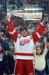 Steve Yzerman won three Stanley Cups as a player
