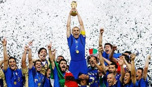 Italy celebrates its 2006 World Cup win. The first World Cup was held in Uruguay in 1930.