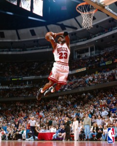 Chicago Bulls' superstar Michael Jordan