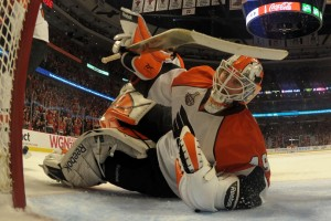 Michael Leighton after allowing Marian Hossa's G2 goal