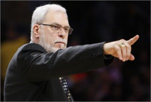 Los Angeles Lakers' head coach Phil Jackson