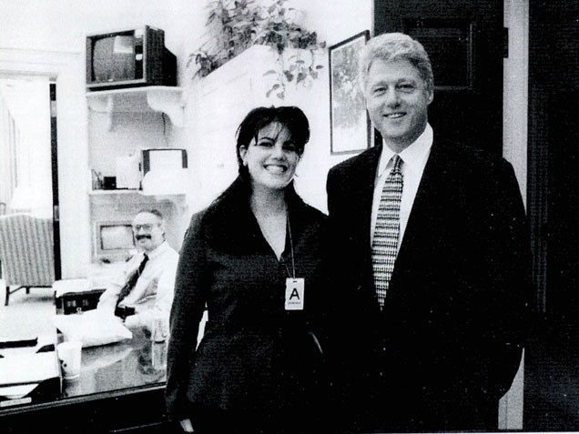 picture of bill clinton and monica lewinsky. President Bill Clinton, with