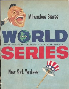 1958 World Series program