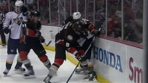 Bobby Ryan's foot stomp