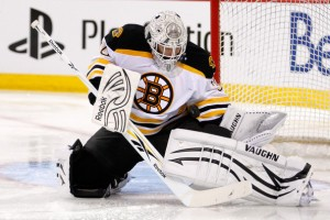 Bruins' netminder Tim Thomas