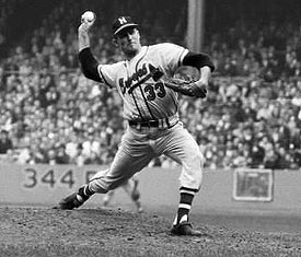 Braves' righthander Lew Burdette led Milwaukee to the 1957 World Series title