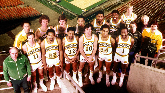 1979 NBA Champion Seattle SuperSonics