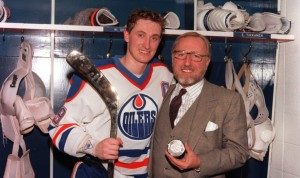 Wayne Gretzky and Peter Pocklington