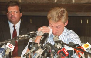 Gretzky cries at trade presser