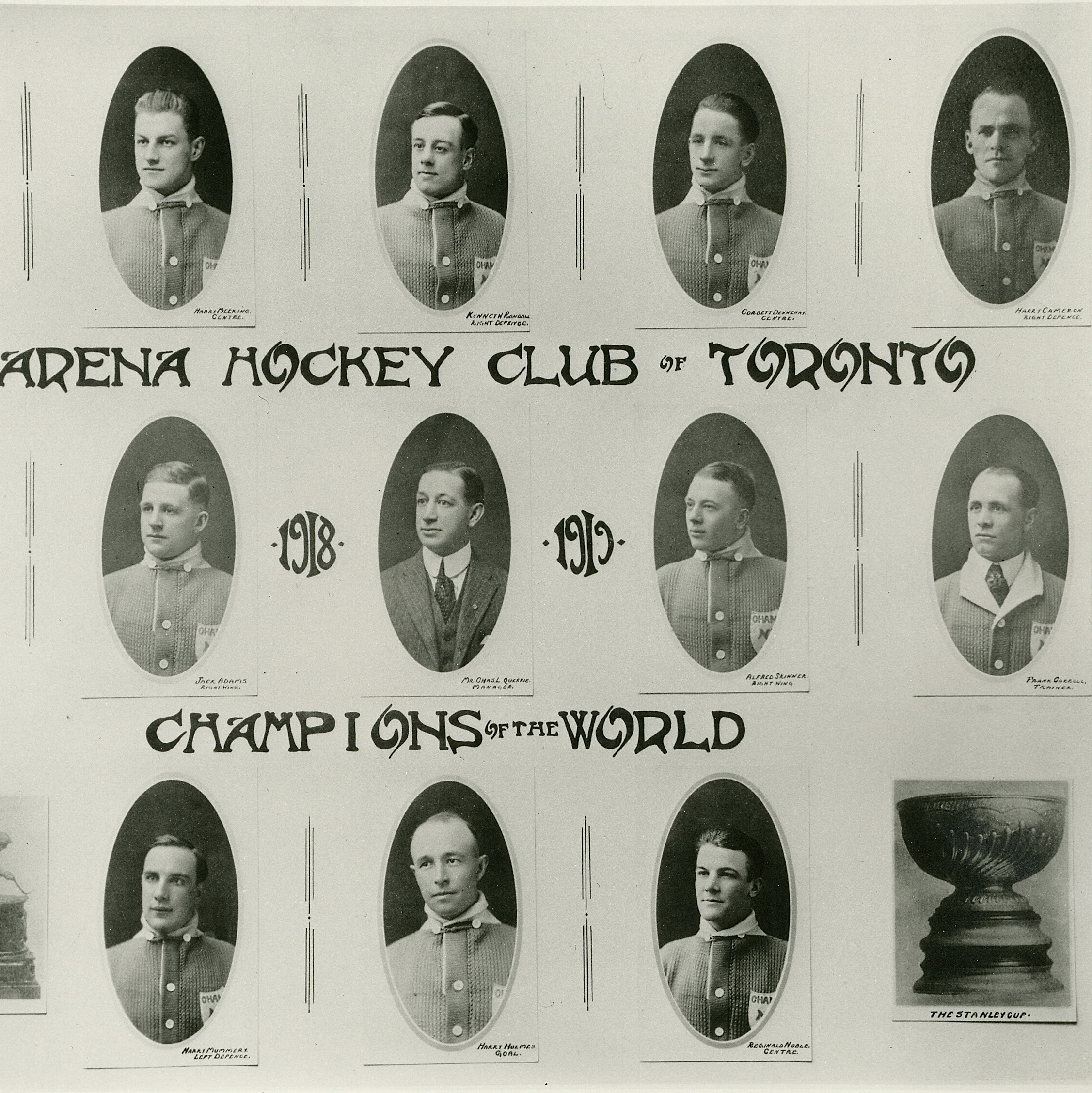 1918 Stanley Cup champion Toronto hockey club