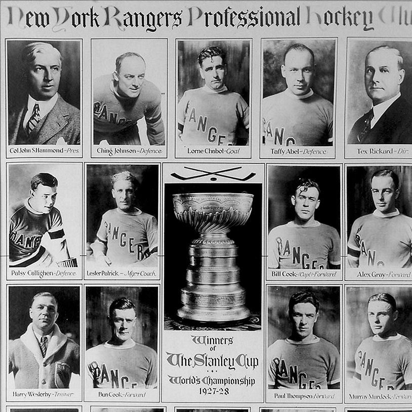 1928 Stanley Cup champion New York Rangers