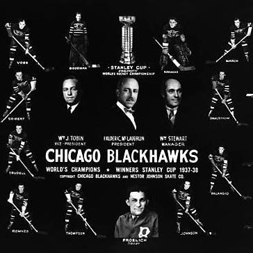 1938 Stanley Cup champion Chicago Black Hawks