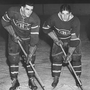 Canadiens' famed 'Punch Line' - Maurice Richard, Elmer Lach (and Toe Blake, not pictured) was at its peak during Montreal's 1944 Stanley Cup run