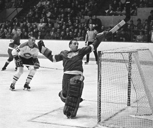 Acrobatic Roger Crozier won 1966 Conn Smythe Trophy with Red Wings